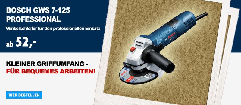 Winkelschleifer Bosch GWS7-125 Professional hier online kaufen!